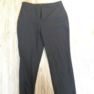 Zara basic cropped black pant